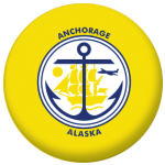 Anchorage (Alaska) Flag 58mm Mirror Keyring